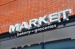 Market store signage Stock Photo