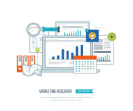 Market strategy analysis, online marketing research, business analytics and planning Royalty Free Stock Photo