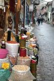 Market on street. Market selling oriental ingredients on the street Royalty Free Stock Photos