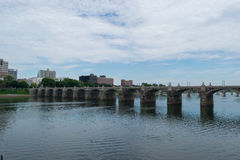Market Street Bridge in Harrisburg, Pennsylvania Stock Image