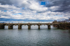 The Market Street Bridge over the Susquehanna River, in Harrisbu Royalty Free Stock Images