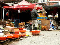 Market on the street in China Stock Images
