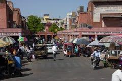 Market Street in Jaipur stockbild