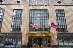 Market Street National Bank in Philadelphia and Residence Inn Hotel - PHILADELPHIA - PENNSYLVANIA - APRIL 6, 2017 Royalty Free Stock Photography
