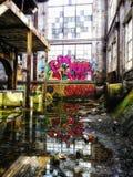 Market Street New Orleans Louisiana övergav kraftverket royaltyfri fotografi
