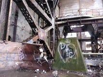 Market Street Nowy Orlean porzucał elektrowni jak tylko energetyczny źródło dla całkowitego miasta zdjęcie stock