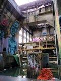 Market Street Nowy Orlean zaniechana elektrownia obraz royalty free