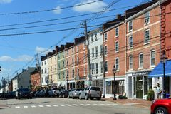 Market Street, Portsmouth, New Hampshire Stock Photography
