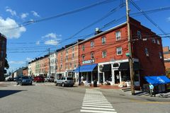 Market Street, Portsmouth, New Hampshire Stock Photos