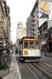 San Francisco, California, United States – circa 2016 - Market Street and Powell Fisherman`s Wharf San Francisco Cable C stock images