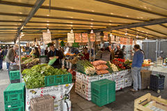 Market street shop selling fruits and vegetables in Paris Royalty Free Stock Images