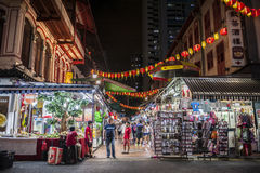 Market and street trade. Chinatown market and street trade Stock Photos