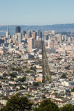 Market street from Twin Peaks Royalty Free Stock Photography