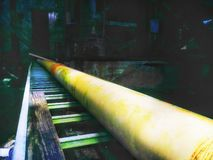 Market Street Verlaten Elektrische centrale New Orleans Louisiane op de Rivier van de Mississippi stock fotografie
