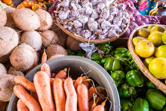 Market table full of vegetables Royalty Free Stock Images