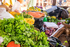 Market table full of vegetables Royalty Free Stock Photo