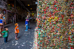 The Market Theater Gum Wall Royalty Free Stock Photos