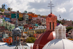Free Market Tower And Church Domes In Guanajuato Stock Photo - 95686120
