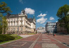 Market before Town Hall in Bielsko-Biala, Poland Stock Image