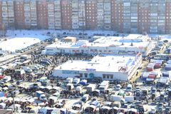 The market town of Penza. Stock Photography