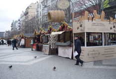 Street market in Prague Stock Photography