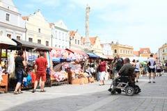 Market in Trebon Royalty Free Stock Photo