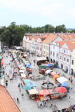 Market in Trebon Royalty Free Stock Photos