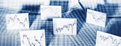 Market trend on the stock exchange Stock Image