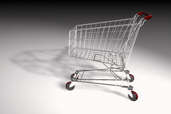 Market trolley isolated Royalty Free Stock Photo