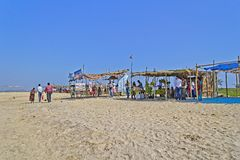 Market on the tropical beach Royalty Free Stock Photography