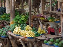 Market in Uganda. Detail of a market in Uganda (Africa) with lots of fruits and vegetables royalty free stock photo