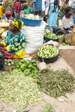Vegetable Market in Uganda Stock Image
