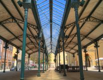 Market in Valence Stock Image