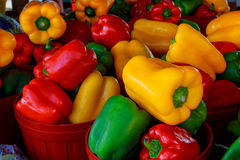 Market with vegetable market pepper Stock Photography