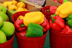 Market with vegetable market pepper Stock Photos