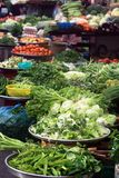 Market vegetables. Local vegetable market on the streets of Ho Chi Minh City, Vietnam Stock Images