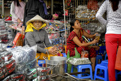 Market Vendor, Ho Chi Minh City, Vietnam Stock Photo