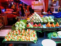 Market vendor selling vegetables in a market in philippines Royalty Free Stock Photo