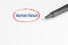 Market Watch - Business Concept Royalty Free Stock Photos