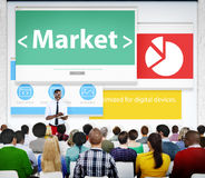 Market Web Page Seminar Presentation Concept Royalty Free Stock Photo