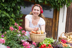 Market woman Royalty Free Stock Photography