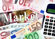 Market word with money Stock Images
