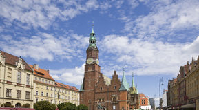 Market in Wroclaw. Old Market Square in Wroclaw, Poland Royalty Free Stock Image