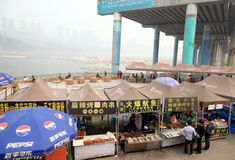 Market on the Yangtze River Stock Photography