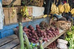Market in Zanzibar. Market stall with vegetables in Stone Town, Zanzibar Stock Images