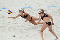 Marketa Slukova - beach volleyball Stock Image