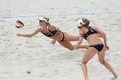 Marketa Slukova - beach volleyball Stock Image