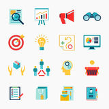 Marketers flat icon Stock Photography
