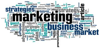 Marketing. Words cloud with marketing strategies related terms