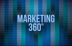 Marketing 360 concept binary Stock Photo